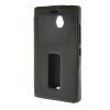 MOONCASE Side Flip Hard board Slim Leather Bracket Window чехол для Cover Nokia Lumia X2 X+ X2DS чёрный