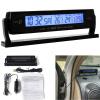 Авто напряжение Цифровой ЖК-термометр температуры Будильник Новый авто