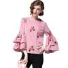 BURDULLY Женские топы и блузки рубашка 2018 Весна лето Повседневная женская хлопковая блузка Женская вышивка Блузка для цветов блузки mango блузка tucano8