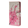 MOONCASE Plum flower style Leather Wallet Flip Card Slot Stand Pouch чехол для Huawei Ascend P8 lite A06 boxwave huawei g6310 bamboo natural panel stand premium bamboo real wood stand for your huawei g6310 small