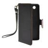 все цены на  MOONCASE Лич кожи Кожа держатель карты бумажник чехол с Kickstand чехол для Sony Xperia Z3 Compact (Z3) Черный Mini  онлайн