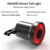 Xlite100 Smart Bike Велосипед Taillight USB аккумуляторная светодиодная подсветка для велотренажеров Auto Start / Stop Brake Sensing IPx6 Waterproof
