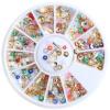 Прозрачные прозрачные красочные маникюрные маникюрные маникюры Micro Small Beads Round Balls Mini 3D Украшение на колесах light pink color cubic zirconia stones round pointback new design beads 3d nail art decorations 4 18mm supplies for jewely diy