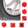 Универсальный кости тележки автомобиля велосипед колеса Герметичная резины шин стволовых воздушного клапана крышки красный