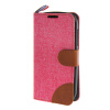 MOONCASE Alcatel One Touch POP C5 , Leather Flip Card Holder Pouch Stand Back ЧЕХОЛ ДЛЯ Alcatel One Touch POP C5 Hot pink alcatel one touch pop 3 5025d silver
