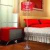 [Супермаркет] Корона Я. Jingdong LED торшер гостиной спальня прикроватные исследование творческой современный европейский кристалл бионический стиль торшер дроссельные LA-W215