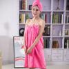 Xin бренд полотенце домашний текстиль скин-friendly ультра-тонкой волоконной ванной юбка сухие волосы шляпу два комплекта (утолщение типа) красный