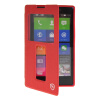 MOONCASE View Window Leather Side Flip Pouch Stand Shell Back ЧЕХОЛ ДЛЯ Nokia XL Red чехол книжка nokia cp 632 для nokia xl черный