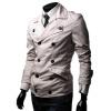 zogaa случайные костюм ошейник двубортный чистый цвет слим мужской пиджак