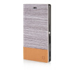 MOONCASE Canvas Design Leather Side Flip Wallet Pouch Stand Shell Back ЧЕХОЛДЛЯ Sony Xperia M2 Light Brown mooncase classic cross pattern leather side flip wallet card pouch stand soft shell чехол для sony xperia m2 black brown