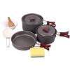 Красный лагерь на открытом воздухе кемпинга кухонная посуда кухонная посуда кухонная посуда 2-3 человек пикник посуда посуда Teapot Set посуда ч риомаге