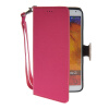 MOONCASE Litch Skin Leather Side Flip Wallet Slot Pouch Stand Shell Back ЧЕХОЛДЛЯ Samsung Galaxy Note 3 N9000 Hot pink mooncase soft silicone gel side flip pouch hard shell back чехолдля samsung galaxy s6 grey