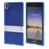 MOONCASE Huawei Р7 Дело Желе Цвет силиконовый гель ТПУ Тонкий с подставкой обложка чехол для Huawei Ascend P7 синий