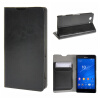 MOONCASE ЧЕХОЛ ДЛЯ Sony Xperia Z3 Compact ( Z3 Mini ) Leather Wallet Flip Card Holder Bracket Back Pouch Black 01 заглушка usb sony xperia z3 compact белая