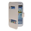 MOONCASE View Window Leather Side Flip Pouch Stand Shell Back ЧЕХОЛДЛЯ Samsung Galaxy Win I8552 White mooncase soft silicone gel side flip pouch hard shell back чехолдля samsung galaxy s6 grey