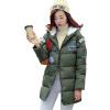 Зимние Женщины мультфильм хлопок проложенный с капюшоном куртки траншеи Длинные пальто Шинель Куртка куплю гречку в рб оптом цены