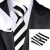 Горячие продажи Vogue Мужчины шелковый галстук Набор высокого качества 100% шелковый галстук платок запонки Набор для формальной свадьбы Бизнес