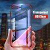 Luxury Transparent Phone Case For iPhone 7 iphone 6 case Electroplating Soft tpu Silicone Cover For iPhone X 6 6S 7 8 Plus
