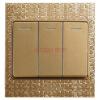 Feidiao (feidiao) переключатель гнездо панели три открытых одного выключателя три отдельных панели управления стеновой панели панели 86 типа Phantom Tu Hao золото