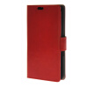 MOONCASE Smooth PU Leather Flip Wallet Card Slot Bracket Back чехол для Sony Xperia E4 Red skinbox 4people чехол для sony xperia e4 e4 dual red