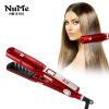 Паровая выпрямитель для волос Инфракрасный паровой керлинг Утюг Керамический волосистый ЖК-дисплей Инструмент для стилизации Профессиональный плоский утюг