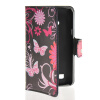 MOONCASE Butterfly style Leather Side Flip Wallet Card Slot Stand Pouch чехол для LG L50 luxury stand flip