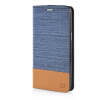 MOONCASE Canvas Design Leather Side Flip Pouch Stand Shell Back ЧЕХОЛДЛЯ Samsung Galaxy Grand Prime G5308W Light Blue mooncase soft silicone gel side flip pouch hard shell back чехолдля samsung galaxy s6 grey