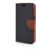 MOONCASE Cross pattern Leather Side Flip Stand Shell Back ЧЕХОЛ ДЛЯ Samsung Galaxy Grand Prime G5308W Black brown luxury stand flip