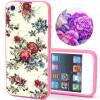 Силиконовый чехол цветочный для  iPhone 5 5S чехол для iphone 5 5s ретро павлин bird блесточки кобура горный хрусталь полиуретан кожа откидной чехол