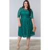 Шею рукавом платье кружева платье юбка платье толстых людей большого размера женские