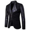 Мужская тонкая кожаная куртка для индивидуального костюма