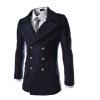 zogaa осенью и зимой новые мужчины, шерстяные пальто двубортный 2016 осенью дамы сукно slim шерстяные пальто в длинные пальто