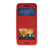 MOONCASE View Window Leather Side Flip Pouch Stand Slim Shell Back ЧЕХОЛДЛЯ HTC One M9 Red