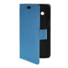 MOONCASE Slim Leather Flip Wallet Card Pouch with Kickstand Shell Back ЧЕХОЛДЛЯ Samsung Galaxy Core 4G G3518 Blue for iphone 7 4 7 inch brushed plastic kickstand shell casing baby blue