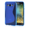 MOONCASE S - Line Soft Flexible Silicone Gel TPU Skin Shell Back ЧЕХОЛДЛЯ Samsung Galaxy E5 / E500 Blue embossed tpu gel shell for ipod touch 5 6 girl in red dress