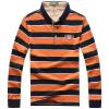 Фото Jeep Щит мужская футболка с длинным рукавом полосатой рубашки поло лацкане случайные рубашки поло D9294 оранжевый L