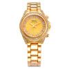 Женская мода Часы Нью-Женщины Королевский золото Циферблат браслет Кварцевые часы с Стразы нержавеющей стали часы G & D201513