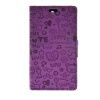 MOONCASE Cute Little Witch Leather Side Flip Wallet Card Holder Stand Pouch ЧЕХОЛ ДЛЯ Sony Xperia Z4 Compact (Mini) Purple
