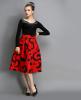 Lovaru ™ осенью новый европейский стиль Луна благородный моды талии Тонкий юбки юбки