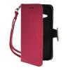 MOONCASE Лич кожи Кожа держатель карты бумажник чехол с Kickstand чехол для HTC One 2 Mini (M8 Mini) Ярко-розовый lucky ff718 lic