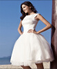 Летнее бальное платье Bateau Prom Short Vintage Lace Свадебные платья для свадьбы пляже 2016 -