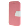 MOONCASE Galaxy J1 , Leather Flip Bracket Back ЧЕХОЛ ДЛЯ Samsung Galaxy J1 Pink White