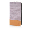 MOONCASE Canvas Design Leather Side Flip Wallet Pouch Stand Shell Back ЧЕХОЛДЛЯ Samsung Galaxy S6 Light Brown mooncase samsung galaxy s6 edge plus чехолдля hard plastic design flip pouch brown