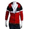 CT&HF Мужчины Спорт Стиль руно моды личности Свободный Пальто Корея Отдых Удобная руно Осень утолщение Сращивание руно