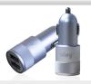 Автомобильное зарядное устройство Ainy EB-018Q с 2-мя USB (1A/2.4A) серебристое зарядное устройство ainy 2xusb 1a 2a black eb 015a автомобильное
