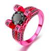 8mm круглое высеканное черное Crytal коктеил партии розовое золото цвет ювелирные изделия моды для женщин оптом Лучшие качества DD043