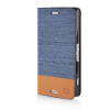 MOONCASE Canvas Design Leather Side Flip Pouch Stand Shell Back ЧЕХОЛ ДЛЯ Sony Xperia Z3 Compact ( Z3 Mini ) Light Blue