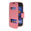 MOONCASE View Window Leather Side Flip Pouch Stand Shell Back ЧЕХОЛДЛЯ Samsung Galaxy Trend Lite S7390 / S7392 Pink mooncase soft silicone gel side flip pouch hard shell back чехолдля samsung galaxy s6 grey