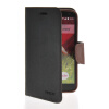 MOONCASE Classic cross pattern Leather Side Flip Wallet Card Pouch Stand Soft Shell Back чехол для LG G2 Mini Black Brown