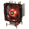 ID-ОХЛАЖДЕНИЯ SE-214pro красно-черно-армированные плиты башни сторона выдувное четыре тепловой заслонки регулирования температуры трубы радиатора процессора 12см бесшумный вентилятор красный